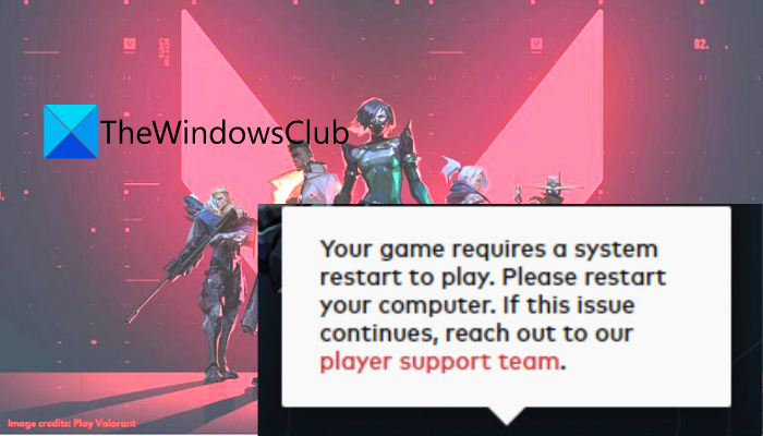 """Fix """"Your game requires a system restart to play"""" in VALORANT"""