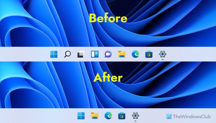 Remove Search, Task View, Chat or Widgets icons from Windows 11 Taskbar