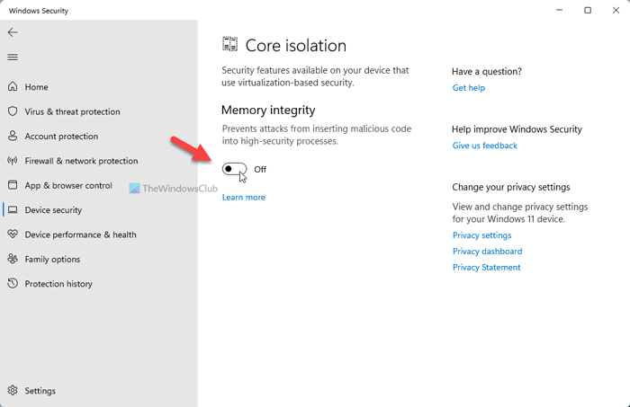 Virtualization-based Security not enabled in Windows 11